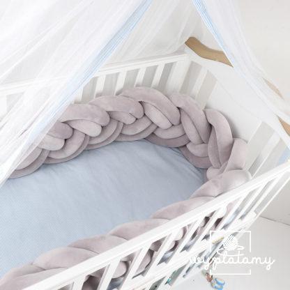 Warkocz pleciony, ochraniacz do łóżeczka