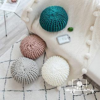 Poduszki i pufy plecione