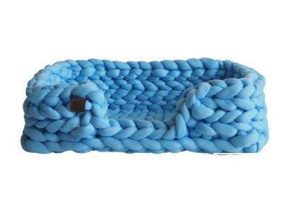Legowisko plecione prostokątne z obniżonym bokiem