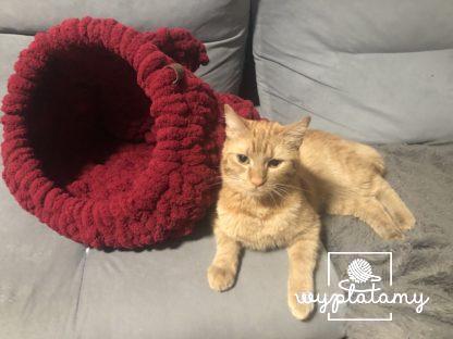 Plecione legowisko domek dla kota