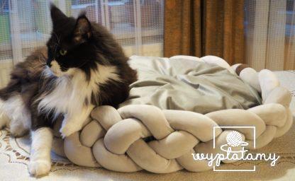 legowisko dla kota, prezent dla kociej mamy, posłanie dla psa